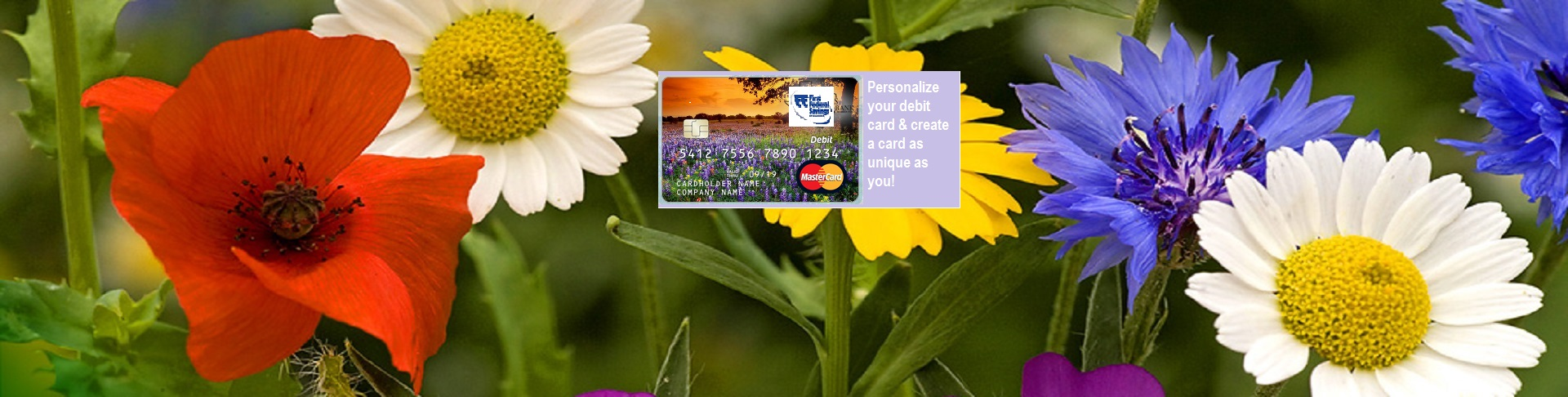 wildflower card create banner with card